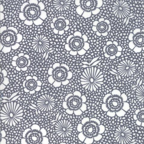 Moda Fabrics - Harmony / Flowers / Grey / 5691-16