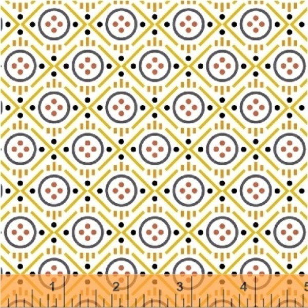 Windham - Uppercase Volume 2 / Buttons / Yellow / 43301-6