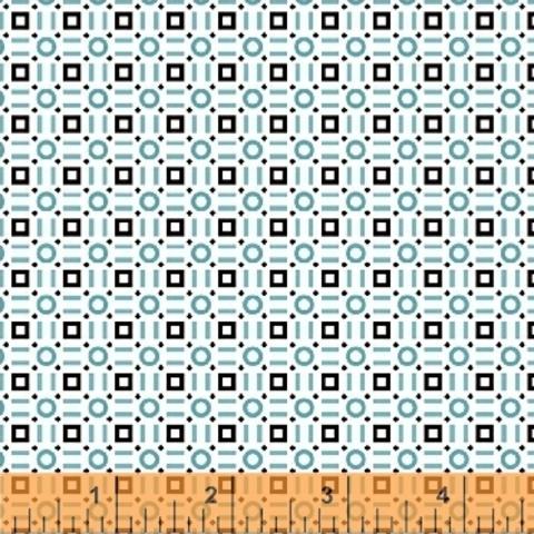Windham - Uppercase Volume 2 / Square & Circle / Blue / 43299-1
