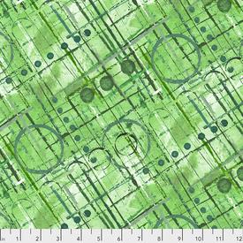 Free Spirit - ColorLabyrinth / Trellis - Green / PWKP004.GREEN