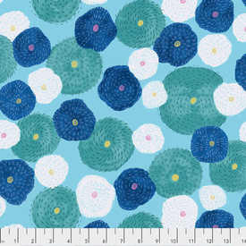 Free Spirit - Keiko Goke / How Do You Do / PWKG004 Blue / Stitch Flowers