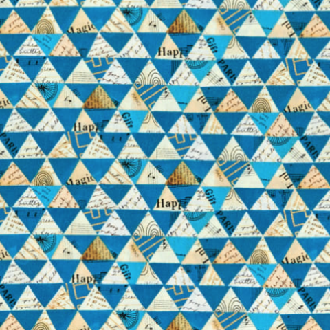 Carrie Bloomston - WISH - Metallic Triangles / Peacock / 51743LC-3