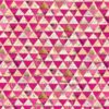 Carrie Bloomston - WISH - Metallic Triangles / Hot Pink / 51743M-6