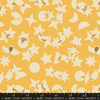 Ruby Star / Rashida Coleman Hale / Stellar / Metallic Stars and Moons / Butter / RS1008 12M