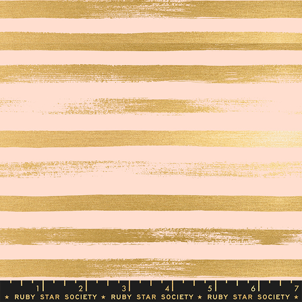 Ruby Star / Rashida Coleman Hale /  Zip Metallic Stripes / Peach / RS1005 31M