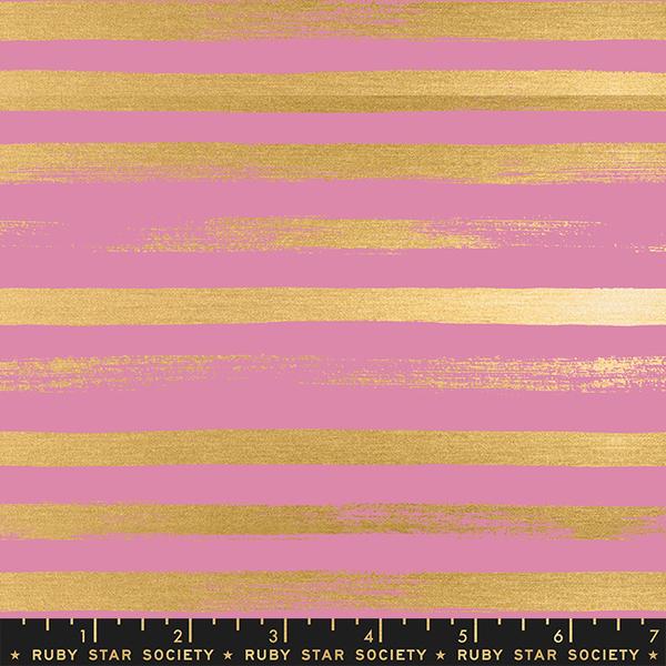 Ruby Star / Rashida Coleman Hale /  Zip Metallic Stripes / Pink / RS1005 32M