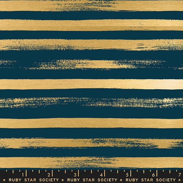 Ruby Star / Rashida Coleman Hale /  Zip Metallic Stripes / Peacock / RS1005 35M