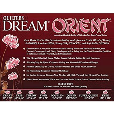 QD Batting / Orient / Crib (46x61)