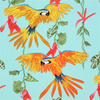 Alexander Henry - Los Loros / Parrot / Turquoise  (AH-19)