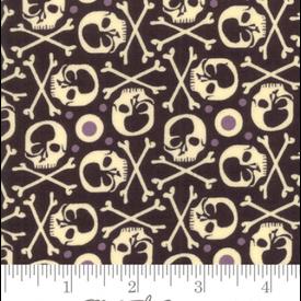 Moda - Hallo Harvest - RIP Skulls / Black / 30603-11