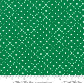 Moda - Merry Merry Snow Days / Green Stars / 2947-25