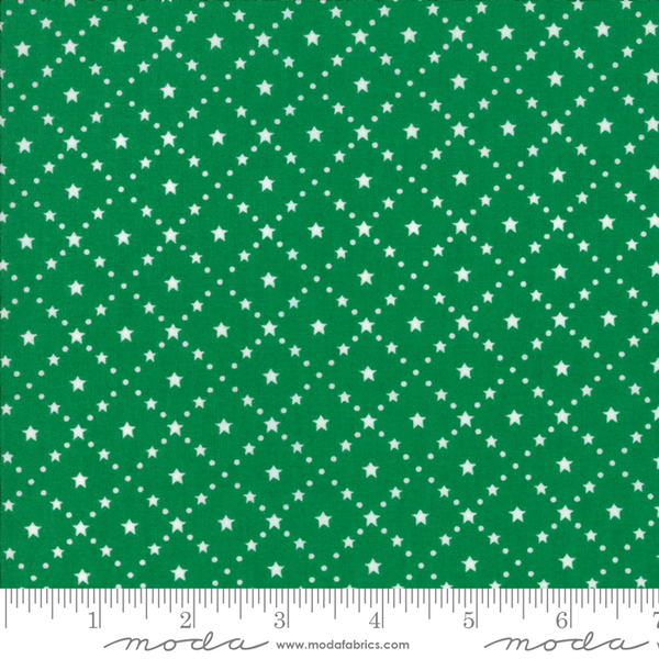 Moda - Merry Merry Snow Days / Green Stars / 2947-25