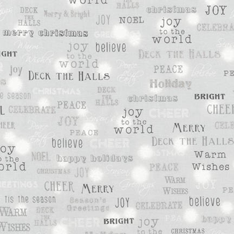 RK - It's Chilly Outside - Holiday Words - Metallic / SRKM-17331-186