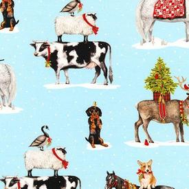 RK - Holly Jolly Christmas / Digital /  Christmas Animals / AUK-17332-88 ICE