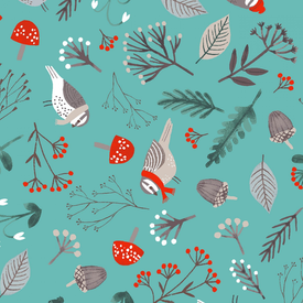 Clothworks - Dreaming Of Snow / Birdies / Y2756-103