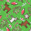 QT - Reindeer Antics / Christmas Cookie Toss / Green / 27218