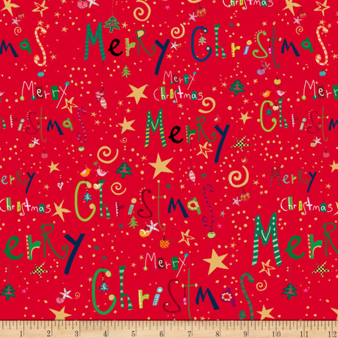 QT - Happy Christmas / Holiday Words / 27258 RED