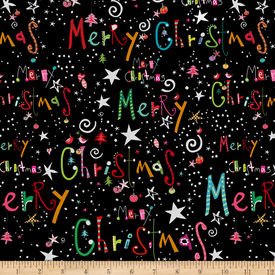 QT - Happy Christmas / Holiday Words / 27258 BLACK