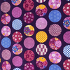 Japanese Fabric - Balls / Purple / TJB01 (A)