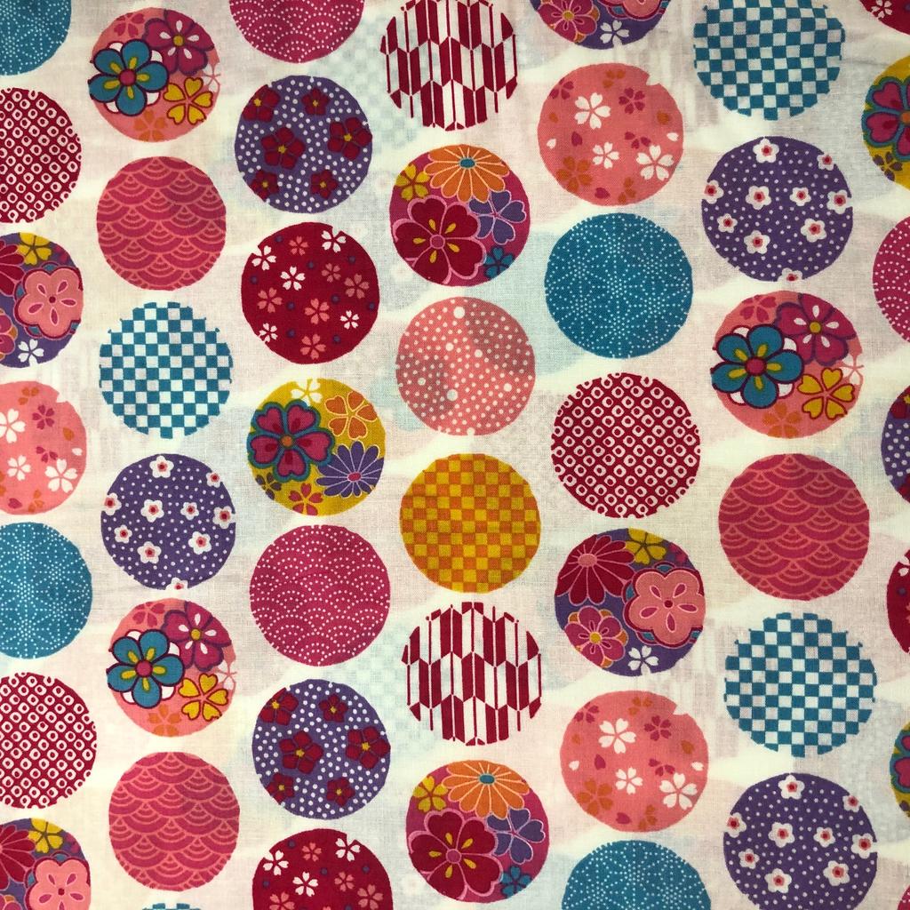 Japanese Fabric Balls White Tjb02 A Bay Quilts