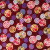 Japanese Fabric - Balls / Multi / Red / TJB04 (A)