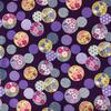 Japanese Fabric - Balls / Multi / Purple / TJB05 (A)