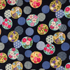 Japanese Fabric - Balls / Multi / Navy / TJB03 (A)