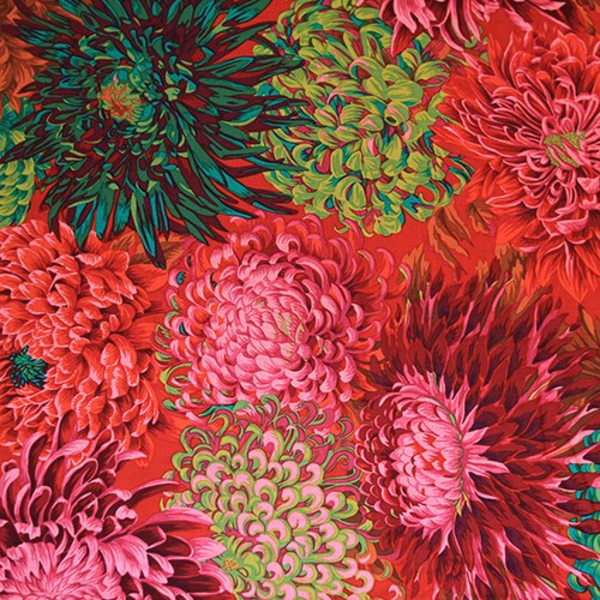 Kaffe - Japanese Chrysanthemum – PWPJ041 – SCARLETT