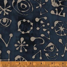 Marcia Derse - Art History 101 - Indigo Miro Glyphs / 50418-21