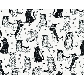 RK - Whiskers & Tails / Cats / Black and White / SB-850303D2-1