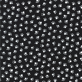 MM - Paw Prints / White on Black / CX5456-BLAC-D