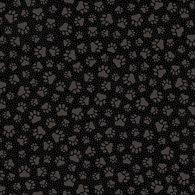 MM - Quilting Illusions / Paw Prints / Black / 26762-J