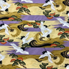 Japanese Fabric - Metallic / Crane / Stripes / Violet / JC03 (A)