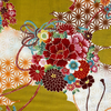 Japanese Fabric - Stars and Flowes / Mustard / JTF11 (A)