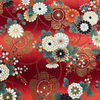 Japanese Fabric - Flower Garden Rows  / Red / JTF21 (B)