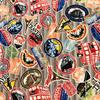 Japanese Canvas / Kokka / Travel Tags / Gray / JLF-K-09
