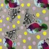 Japanese Canvas / Kokka / Patchwork Birdies / Gray / JLF-K-10