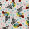 Japanese Linen / Kokka / Patchwork Birdies / White / JLF-K-11