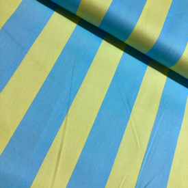 Japanese Linen / Kokka / Thick Stripes / Blue and Green / JLF-K-12