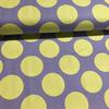 Japanese Linen / Kokka / Large Dots / Purple and Green / JLF-K-13