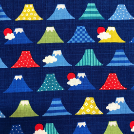 Japanese / Dobby Cloth - Mountains / Blue / JLF-15
