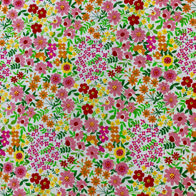 Japanese Canvas / Flower Garden / Pink / JLF-26