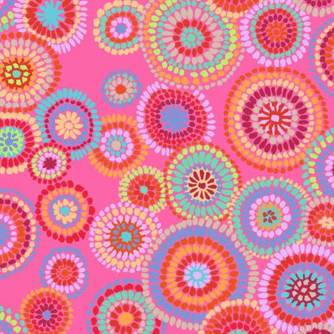 Kaffe Fassett - Mosaic Circles / PWGP176 PINK