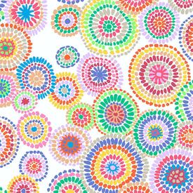 Kaffe Fassett - Mosaic Circles / PWGP176 WHITE