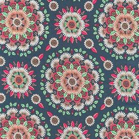 RK - Delphine - Flower Mandala / Red / RKD01