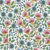 RK - Delphine - Sring Flowers / White / RKD02