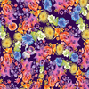 Clothworks - Flower Talk - Masha D'yans - Rainbow Floral / Indigo / y3010-117