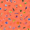 Clothworks - Flower Talk - Masha D'yans - Ditsy Nature / Coral / y3012-40