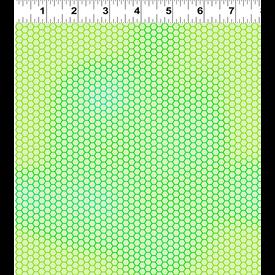 Clothworks - Flower Talk - Masha D'yans - Honeycomb / Green / y3013-20