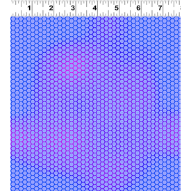 Clothworks - Flower Talk - Masha D'yans - Honeycomb / Periwinkle / y3013-85